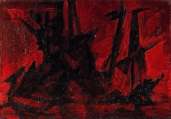Turan SELIM (1915-1994) COMPOSITION ROUGE