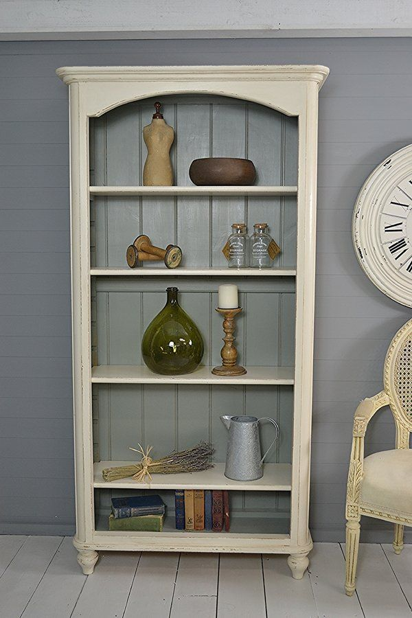 Tall Slimline Shabby Chic Vintage Pine Bookcase artwork