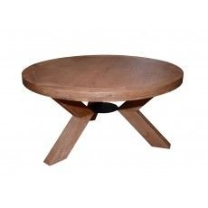 Triomphe Weathered Oak 4 Person Round Dining Table