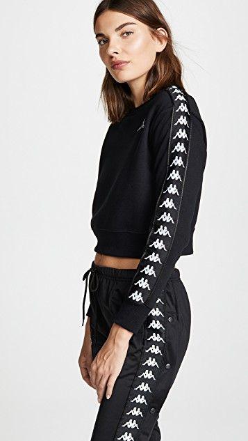 548d7267106d8f Kappa Banda Crop Sweatshirt