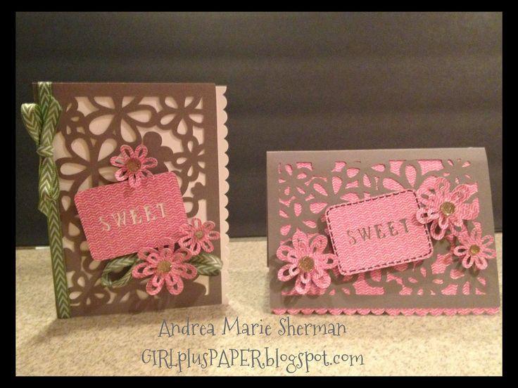 Beautiful overlay cards made using CTMH Artfully Sent Cartridge. GIRLplusPAPER