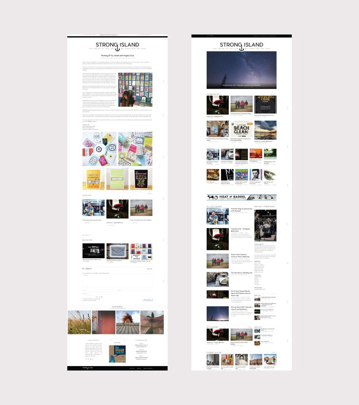 Website Design / Blog Design For Strong Island Blog