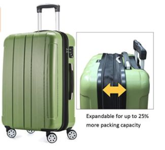 Fochier Luggage 3-Piece Expandable Spinner Set,FC1701-1 Fochier FC1701-1 is a hot new release hardshell spinner set of three lightweight suitcases. You can get it in black (1 and 2), green or silver and all...