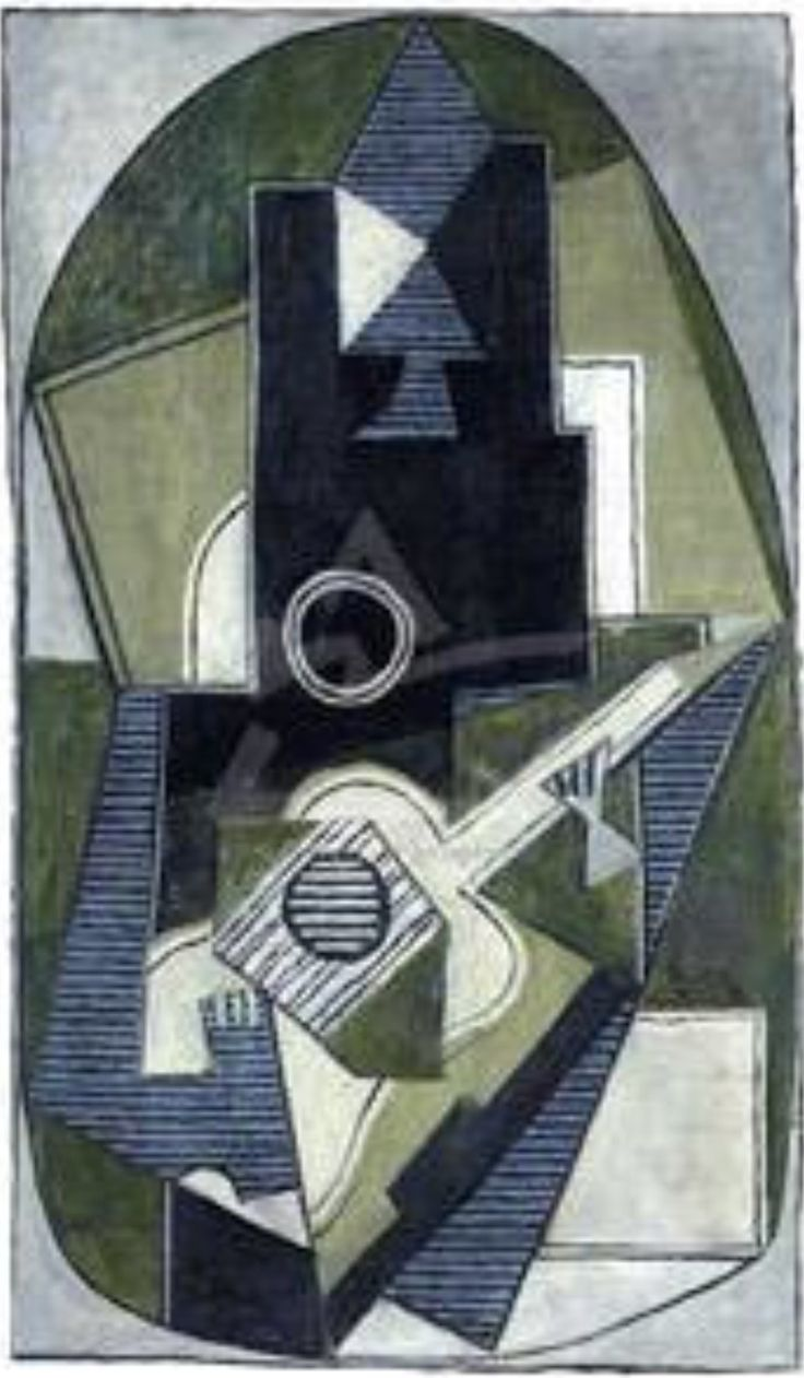 """""""Man with Guitar"""" Pablo Picasso, 1918"""