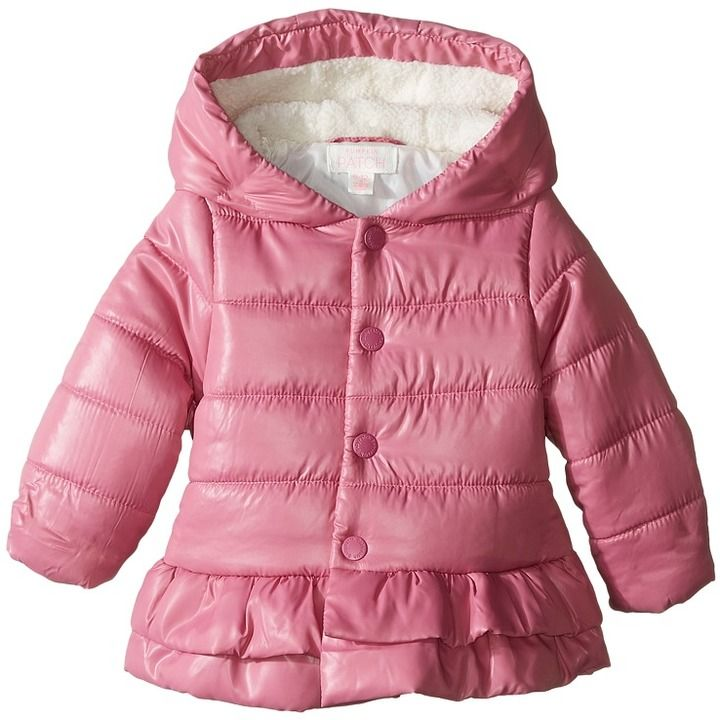 Pumpkin Patch Kids Frilly Puffer Jacket (Infant)
