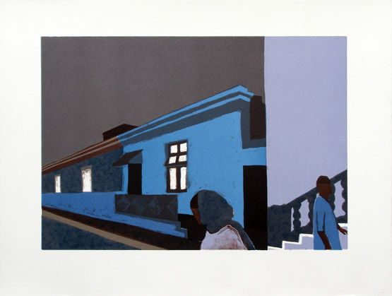 fiona pole, south african lithographs, cape town building prints, cape town cityscapes, bo-kaap buildings, bo-kaap art