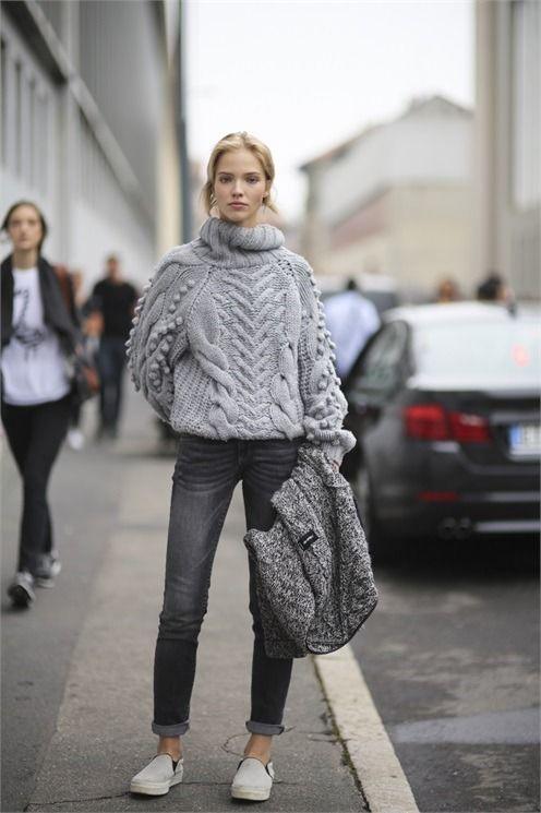 textured sweater #streetstyle