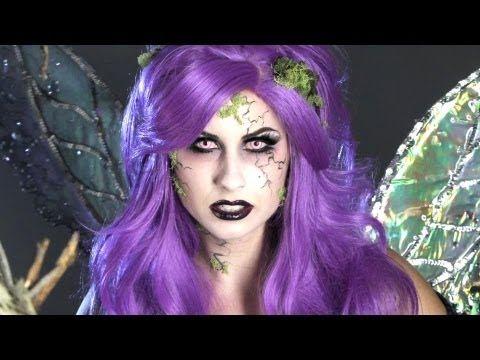 Dark Fairy Halloween Makeup - YouTube
