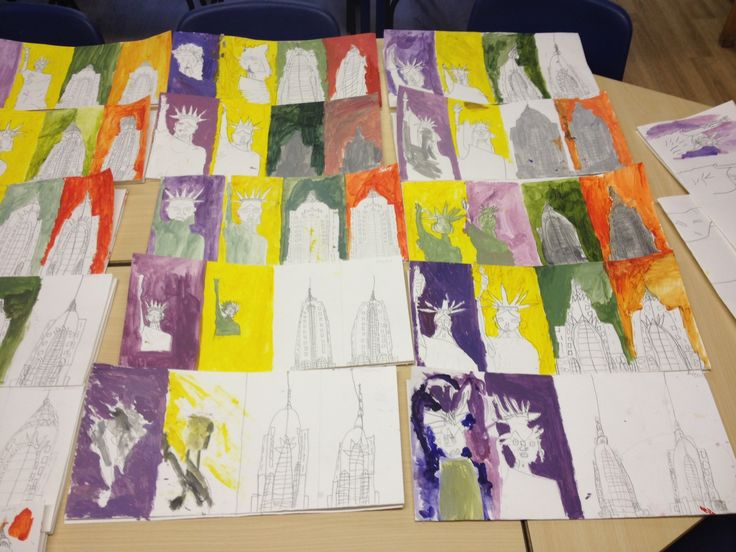 Our Warhol fine art classes in Rickmansworth Park JMI School. Fantastic work!