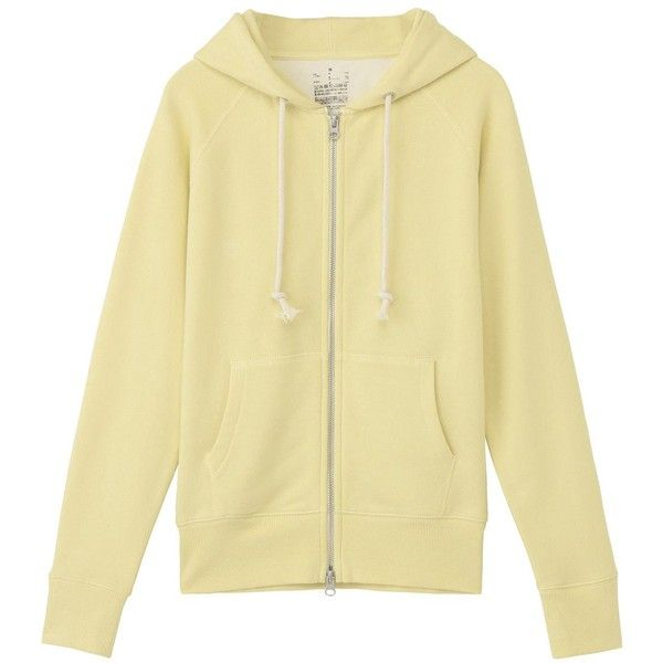 Women Organic Cotton Terry Double Zip Hoody ($39) ❤ liked on Polyvore featuring tops, hoodies, sweatshirt hoodies, beige hoodie, terry top, hoodie top and organic cotton hoodie