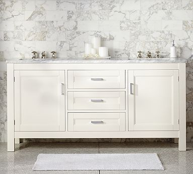 Maxfield Double Sink Console  potterybarn18 best 66  Sink Vanity images on Pinterest   Double sinks  Bath  . 66 Double Sink Vanity. Home Design Ideas