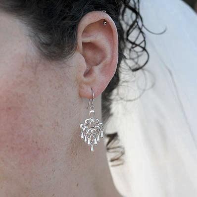 Silverplated+Chandelier+Earrings+by+MichelleMilward+on+Etsy,+$28.50