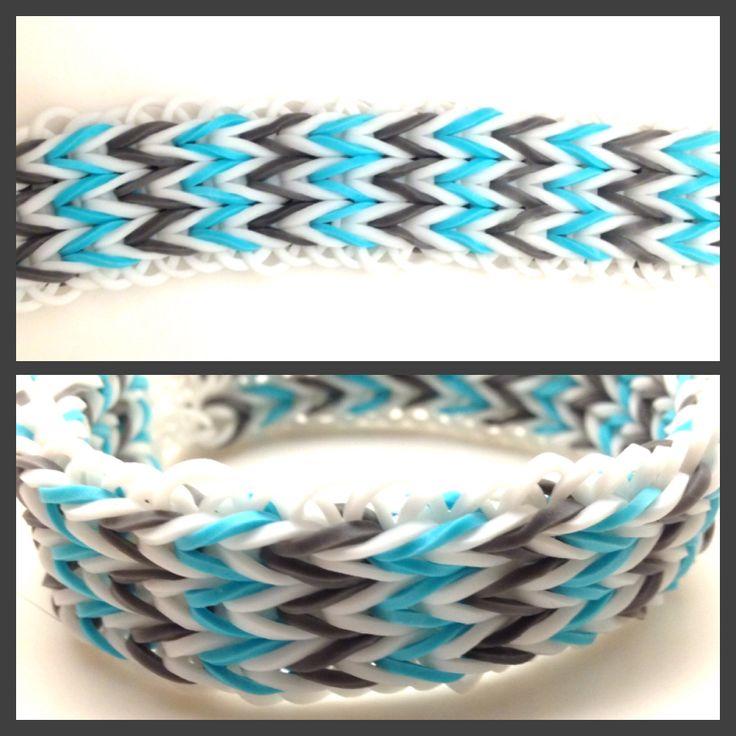 Triple fishtail Rainbow Loom bracelet