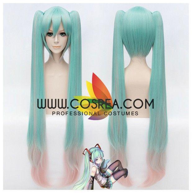 Vocaloid Miku Hatsune Gradient Cosplay Wig