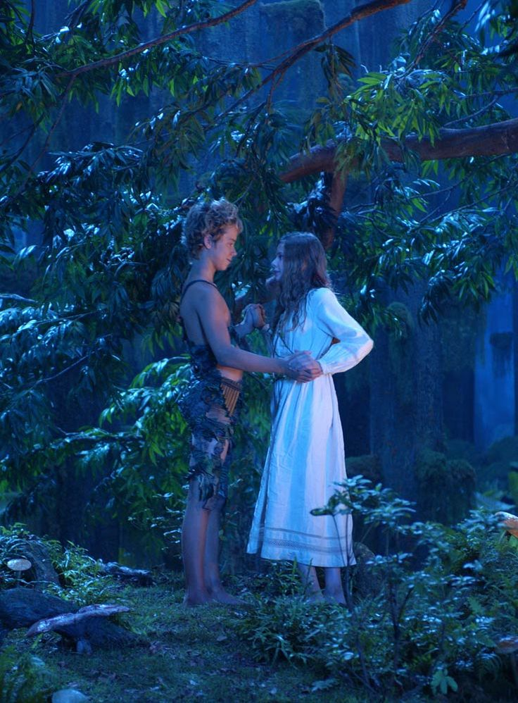 """Peter Pan (2003) Starring: Jeremy Sumpter as Peter Pan and Rachel Hurd-Wood as Wendy Darling. – """"You can't catch me and make me a man."""" ~ Peter Pan. (click thru for larger image)"""