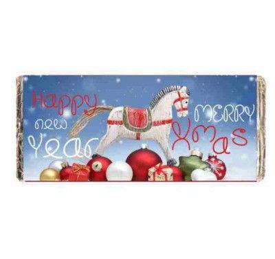 Σοκολάτα χριστουγεννιάτικο σχέδιο happy new year