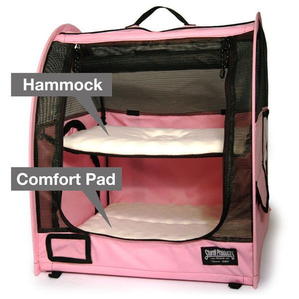 Two Level Pop-Up Small Pet Carrier With Fleece Hammock And Comfort Pad - This would be great for my chinchillas, as long as the exterior is strong enough to withstand their chewing haha.