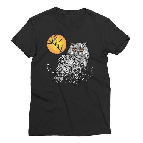 Owl Bird Head as Halloween Symbol Women's Short Sleeve T-Shirt