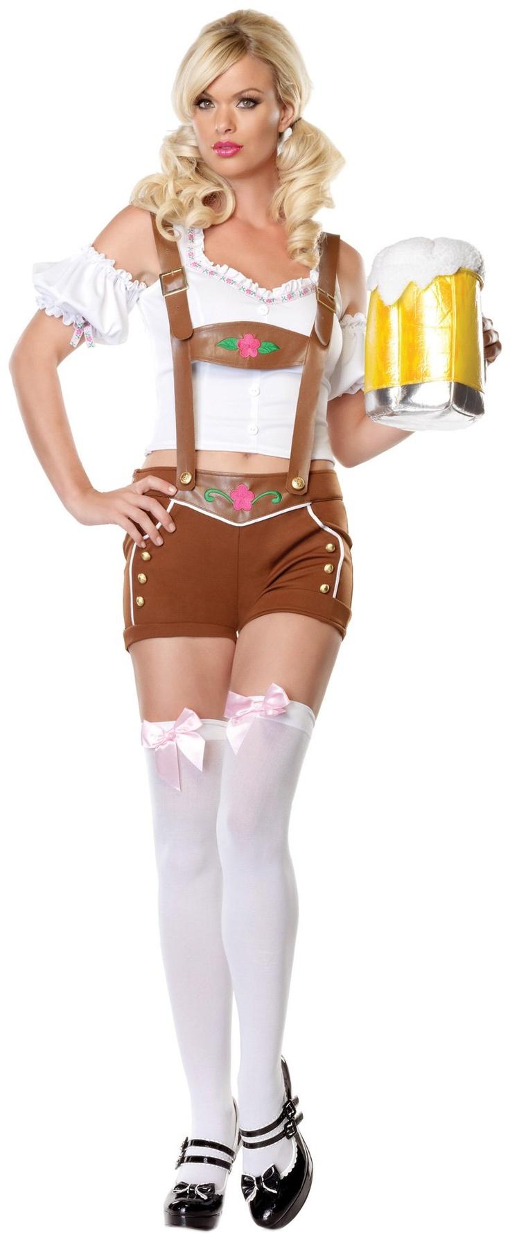 Little Miss Lederhosen Costume, Leg Avenue - Sexy Oktoberfest costume perfect for Valentine's Day.