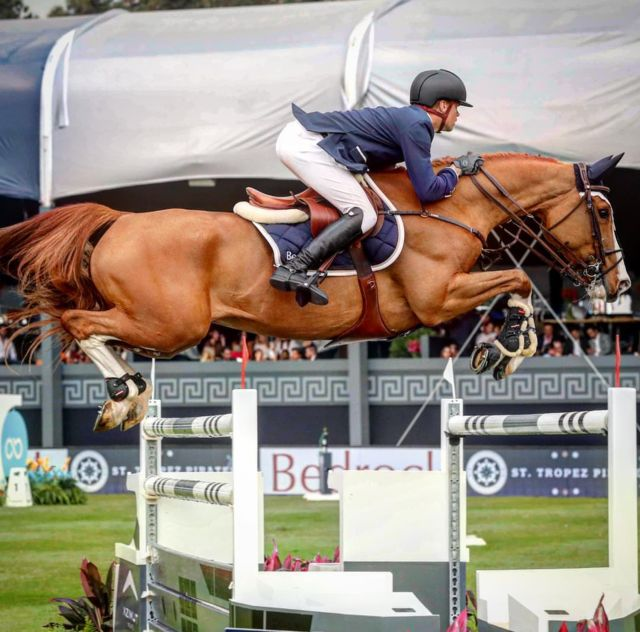 Simon Delestre and Hermes Ryan at the Madrid leg of the Global Champions Tour
