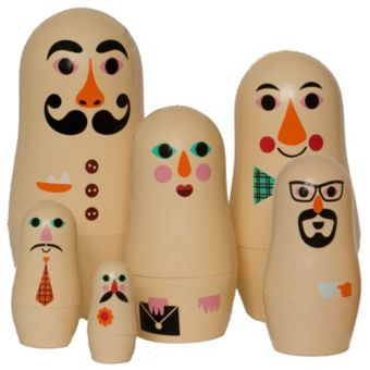 I like these even better than the first nesting dolls by Ingela P Arrhenius