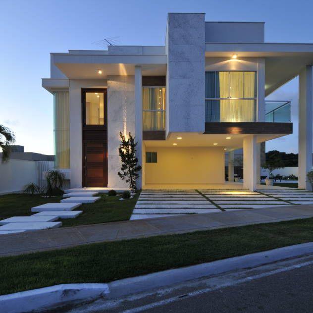 123 melhores imagens sobre residential facades no for Arquitectura moderna casas pequenas