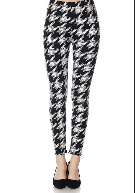 066d67628635a Buttery SOFT BLACK WHITE HOUNDSTOOTH Leggings PLUS SIZE 12-20 BUTTERY SOFT  | Pinterest | Houndstooth, Size 12 and Black