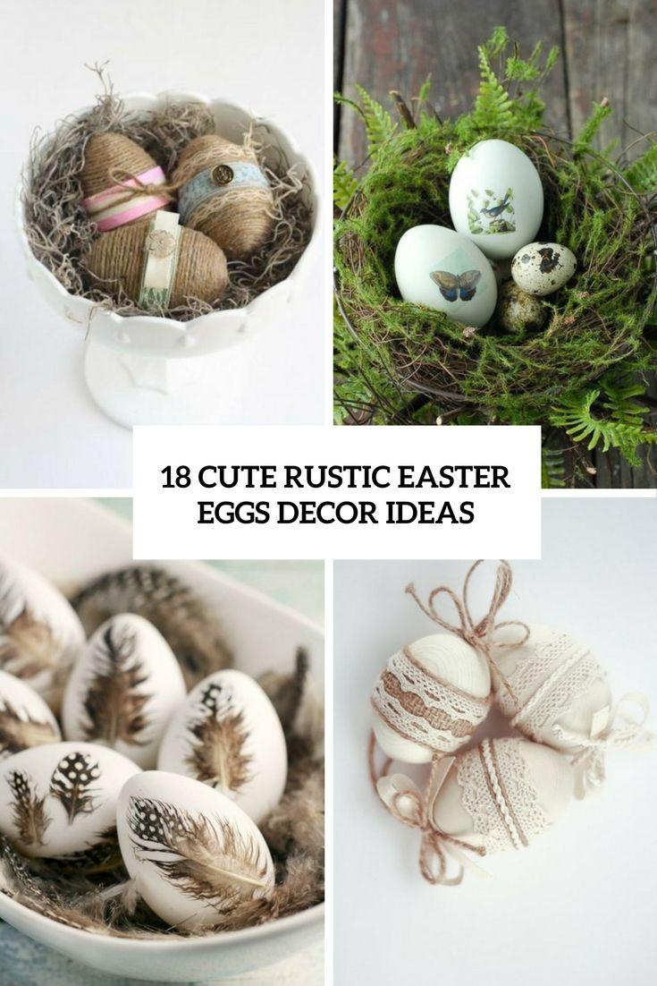 cute rustic easter egg decor ideas cover