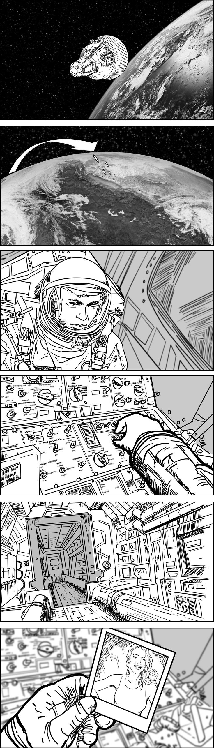 Storyboards for films, commercials and music videos by Cuong Huynh, Storyboard Artist.