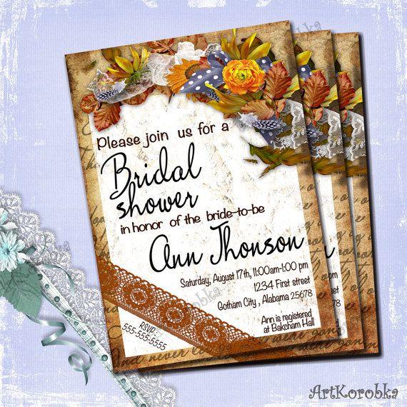 Shower Invitation  Vintage Invitation  Vintage by Artkorobka