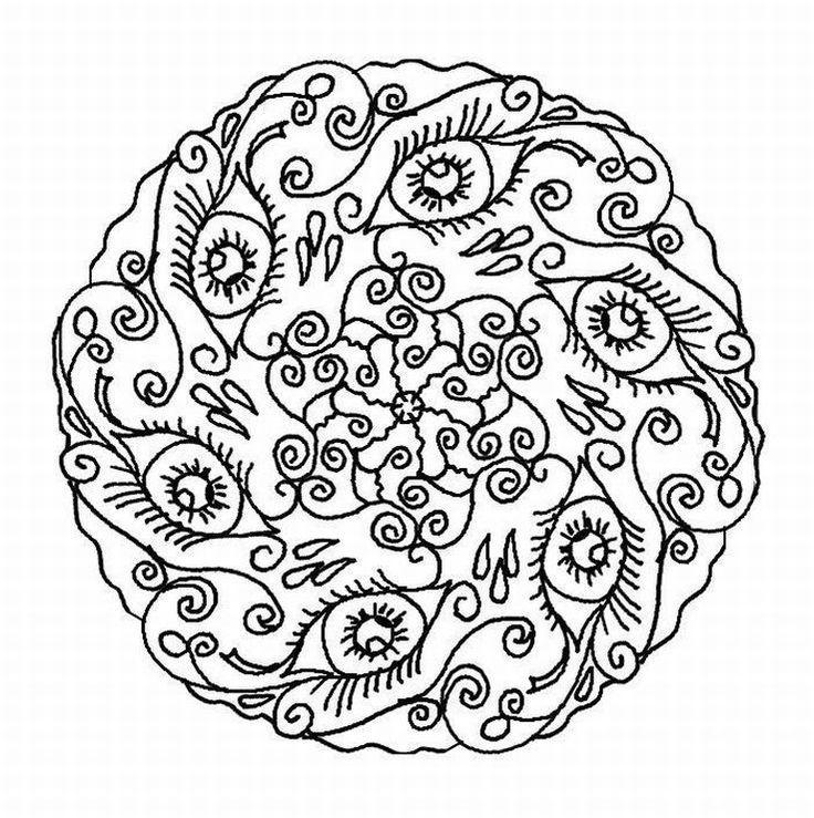 mandala for adults  malvorlage eule muster malvorlagen