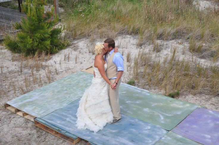 DIY Dance Floor Made From Pallets And Plywood And Spray Painted