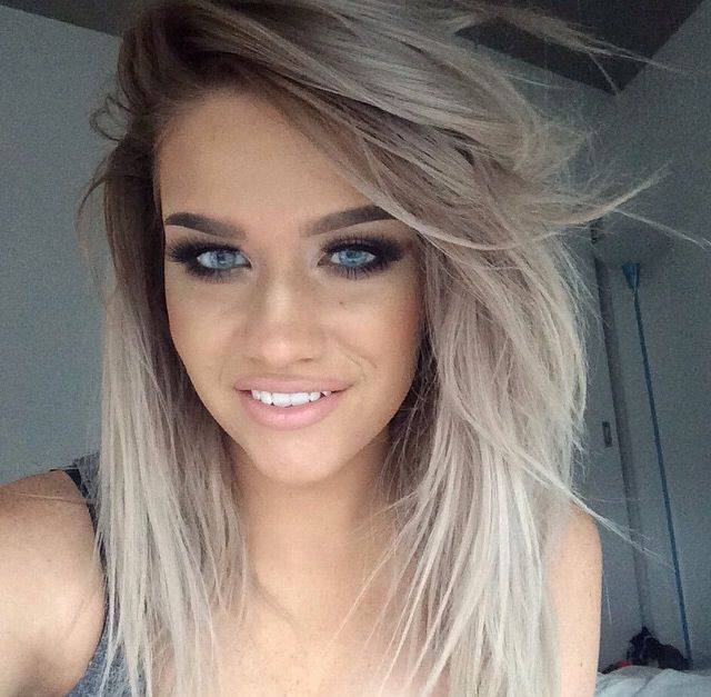 297 best images about hair inspiration on pinterest ash ash blonde balayage and white hair. Black Bedroom Furniture Sets. Home Design Ideas