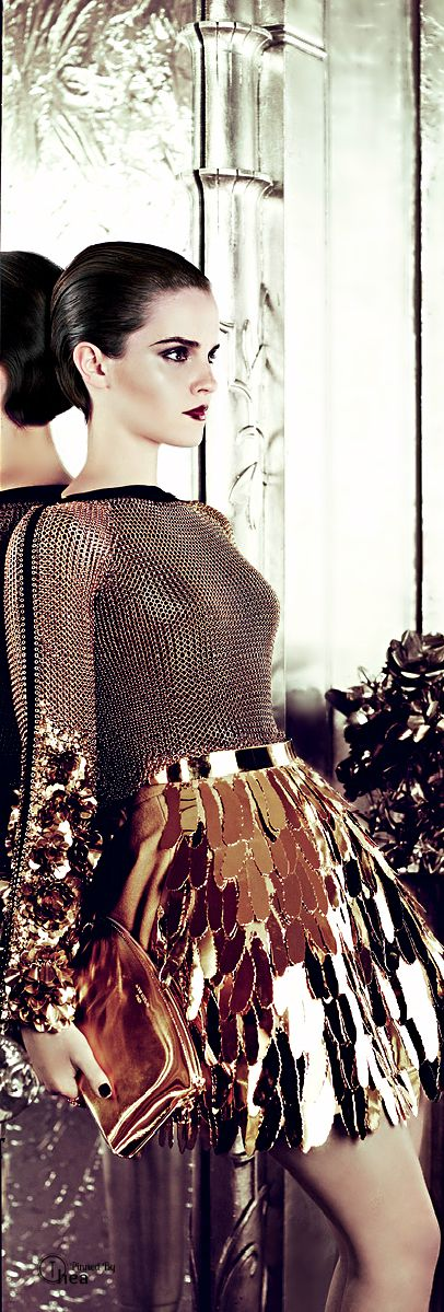 Tom Ford - inspiration for copper skirts or pattern