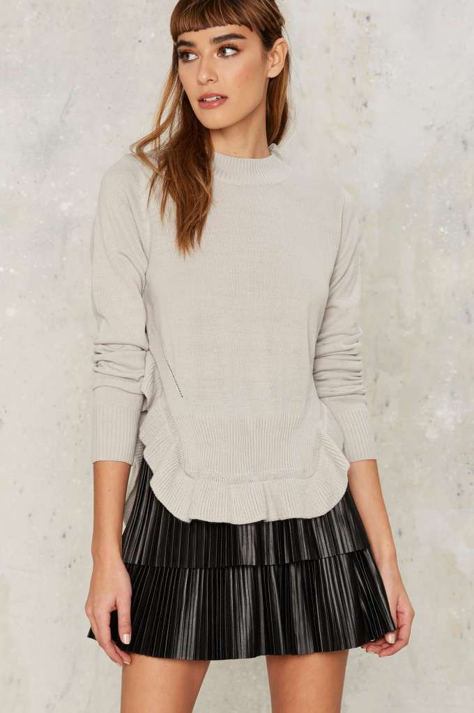 Nasty Gal Cordelia Ruffle Sweater - Clothes   Best Sellers   Knits   Pullover   Tops