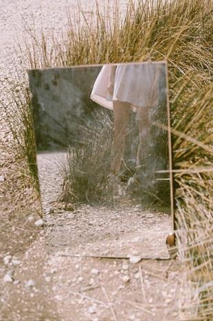 Photo--outdoor mirror reflection