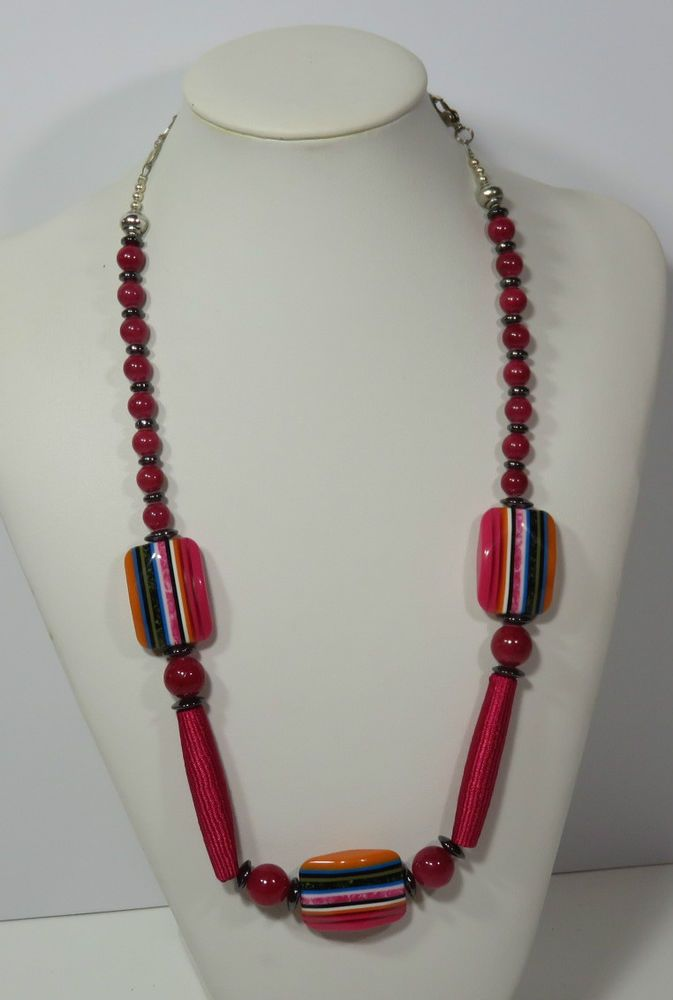 NECKLACE HANDMADE HAVE FUN LOLLY  BEADS