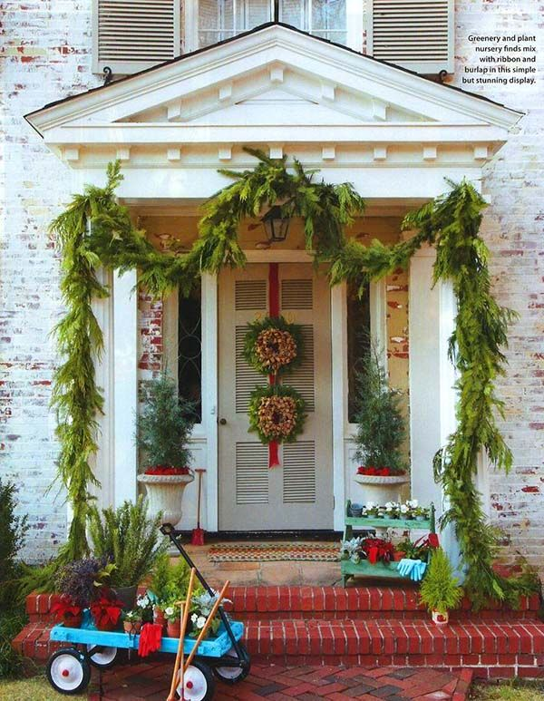 55 Amazing Front Porch Christmas Decorations You Ll Love To Recreate Front Porch Christmas Decor Christmas Porch Decor Christmas Front Doors