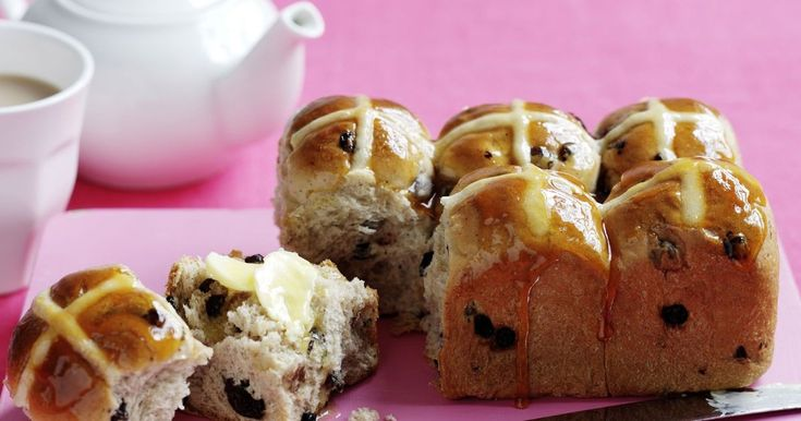 We bring you these delicious hot cross buns just in time for Easter.