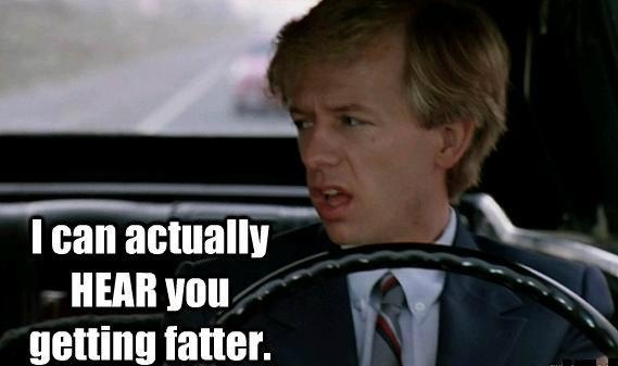 "Ugh, I can actually hear you getting fatter.  ""LIKE"" our page Funny Movie Lines on Facebook by clicking on the picture! #TommyBoy #DavidSpade #FunnyMovieLines"