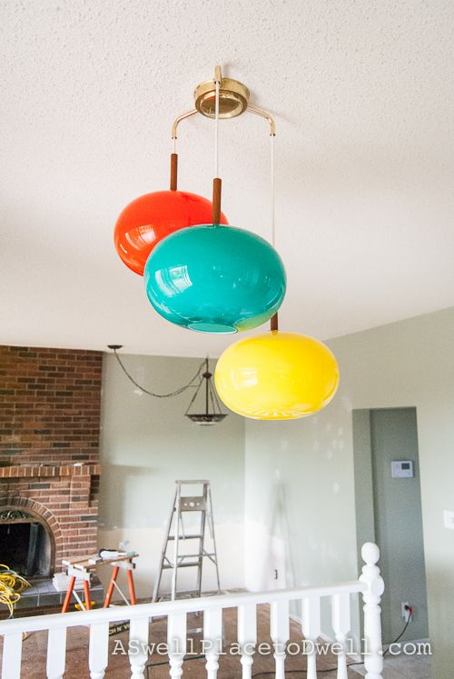 Retro Lights In the Kitchen - not your grandma's light fixtures. Or... I guess they probably are.