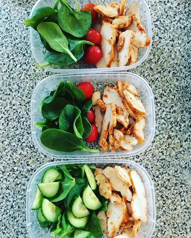 LUNCH: Pin for Later: 21 Simple Meal Prep Combinations Anyone Can Do Cucumbers + Chicken + Tomatoes More