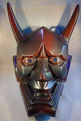 Japanese Hannya Mask Pottery Omen Noh Kabuki Samurai Demon oni evil