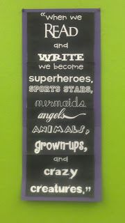 I think that this is a really good quote to have in your classroom because it shows how books can take us to different places and create a whole new world around us.