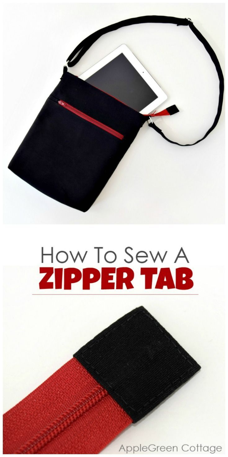 How to add a fabric tab to the end of a zipper to make it look cute and polished. Easy and so effective! #sewingtips #bags #sewingtutorial  #sewingproject #diy #easysewing #beginnersewing #sewing #sewingtutorial #learntosew