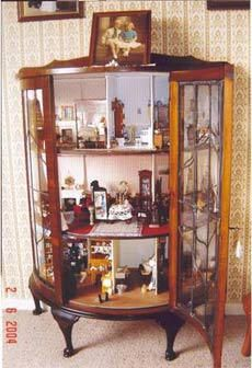 instead of storing china :-)   use small curio cabinets for miniatures