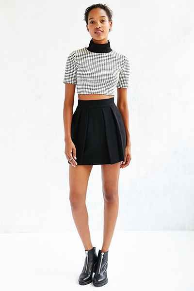 Kimchi Blue Double Layer Seamed Skirt Urban Outfitters Trzy kolory Noir Pinterest Urban
