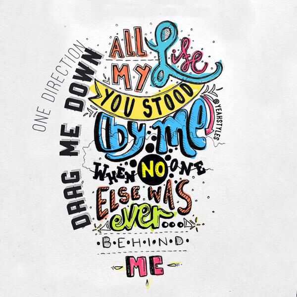 drag me down // one direction // Actually kind of like this song...lol