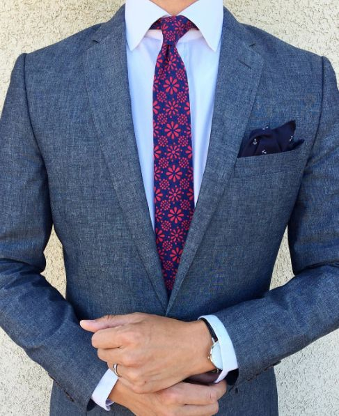 Jazz up a blazer with a Talavera Necktie.