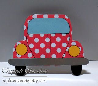 Sophia's Sundries (formerly Frugal Ideas from the Parsonage): VW Beetle Bug Cards